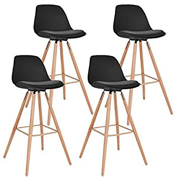 Tabouret de bar scandinave lot de 4