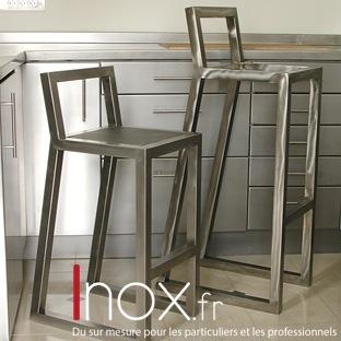 Tabouret design inox
