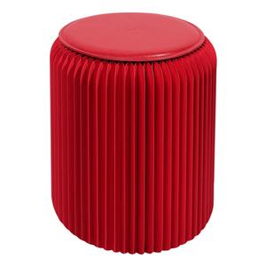Tabouret pliable rouge