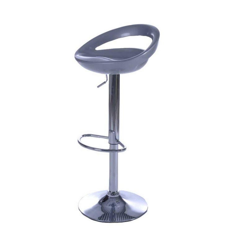 Tabouret de bar city gris
