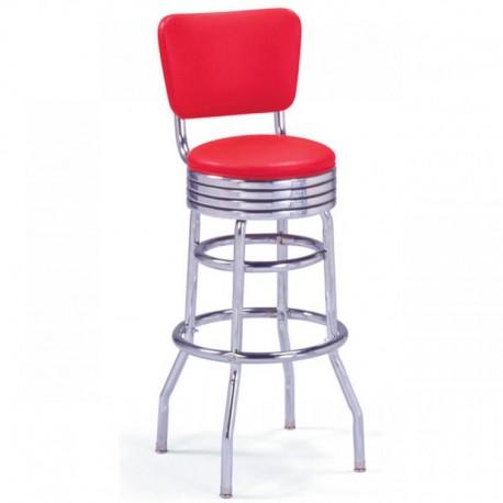 Tabouret de bar avec 4 pieds rouge