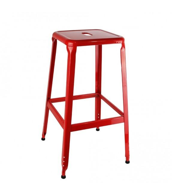 Tabouret de bar rouge vintage
