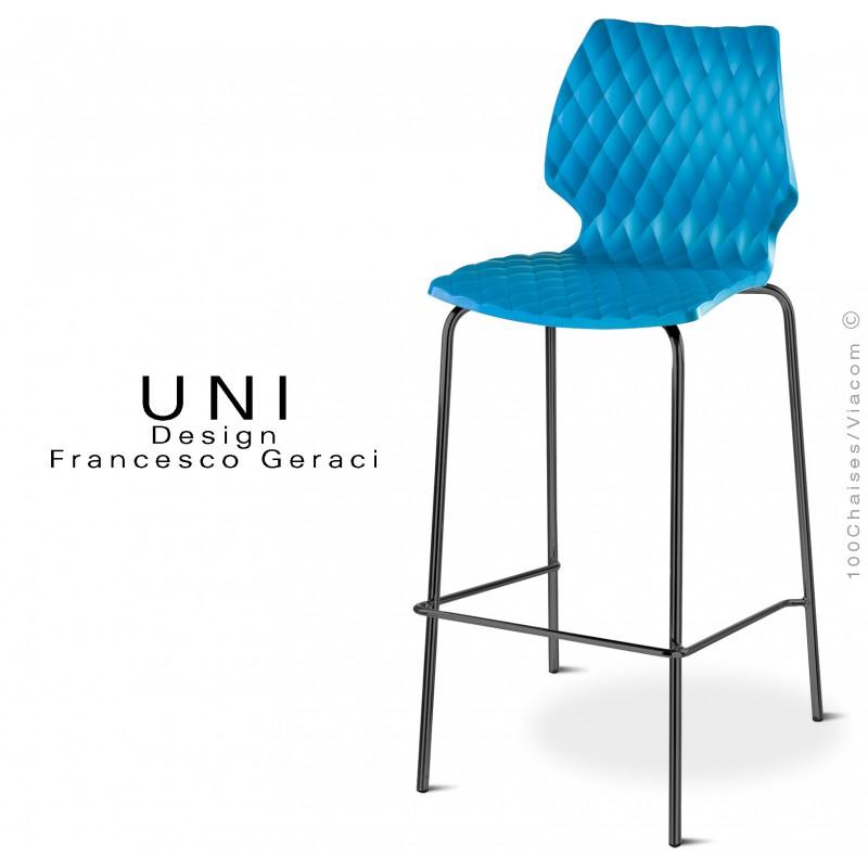 Tabouret design bleu