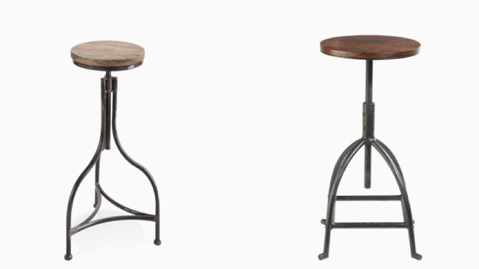 tabouret bar metal maison du monde. Black Bedroom Furniture Sets. Home Design Ideas
