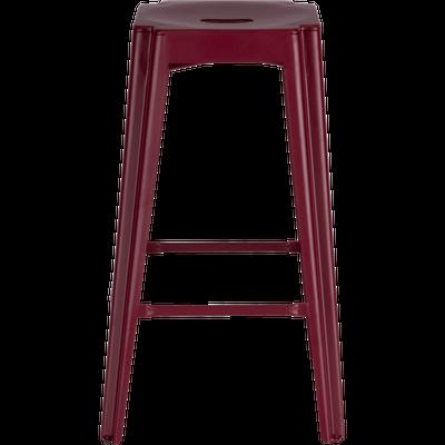 Tabouret de bar en cuir rouge