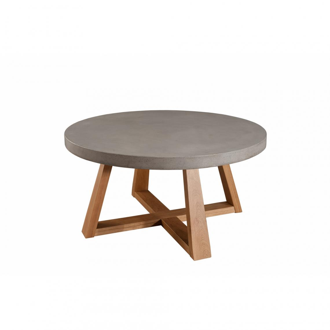 Table basse ronde 3 suisses