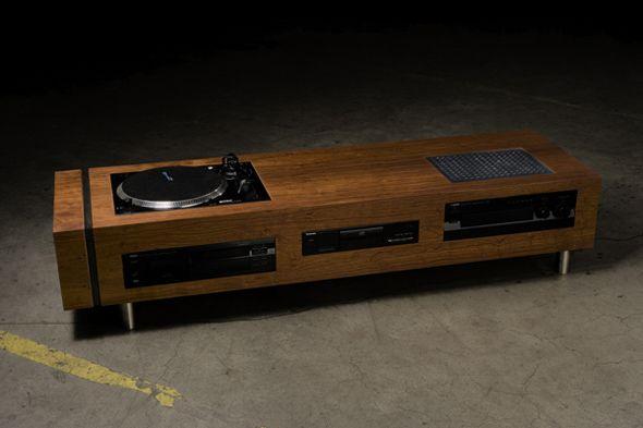 Table basse design hifi