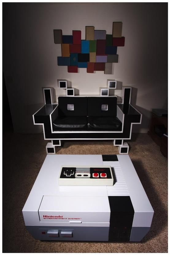 Table basse retro gaming