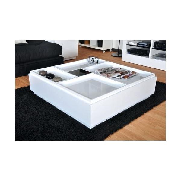Table basse aquarium blanc