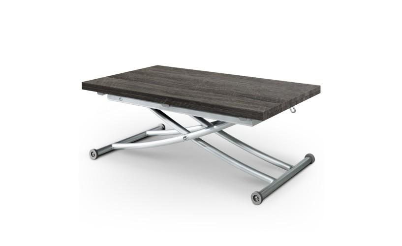 Table basse relevable bois vintage