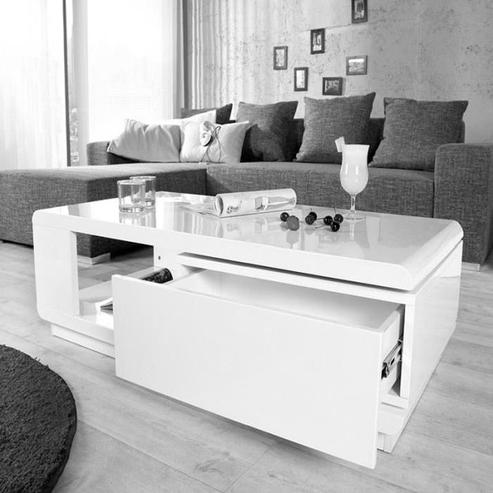 Table basse design en verre pas cher