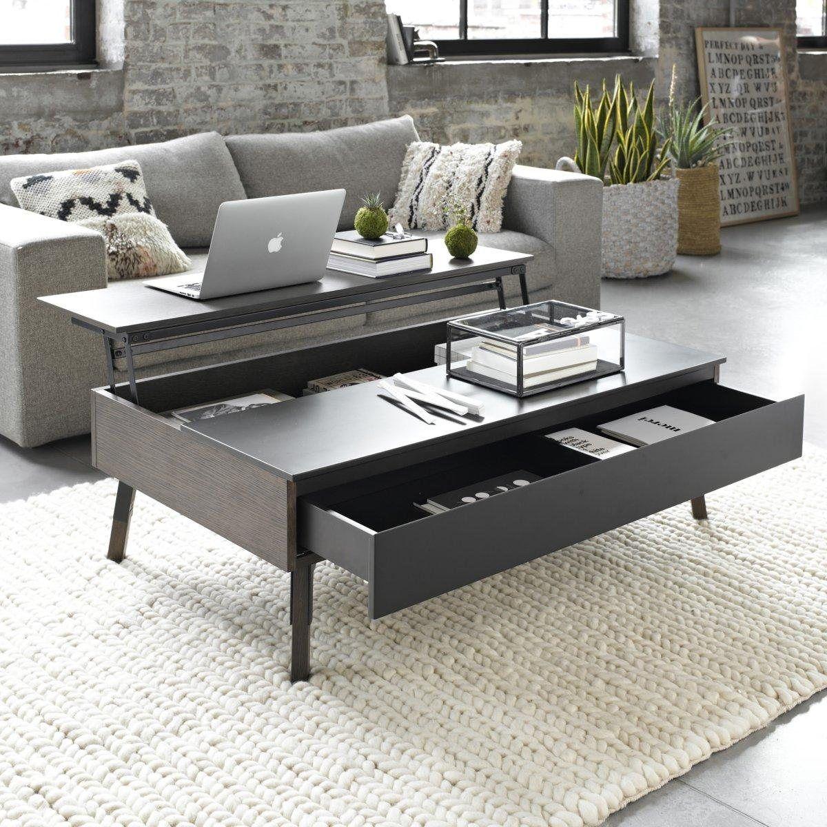 Table basse relevable tiroir