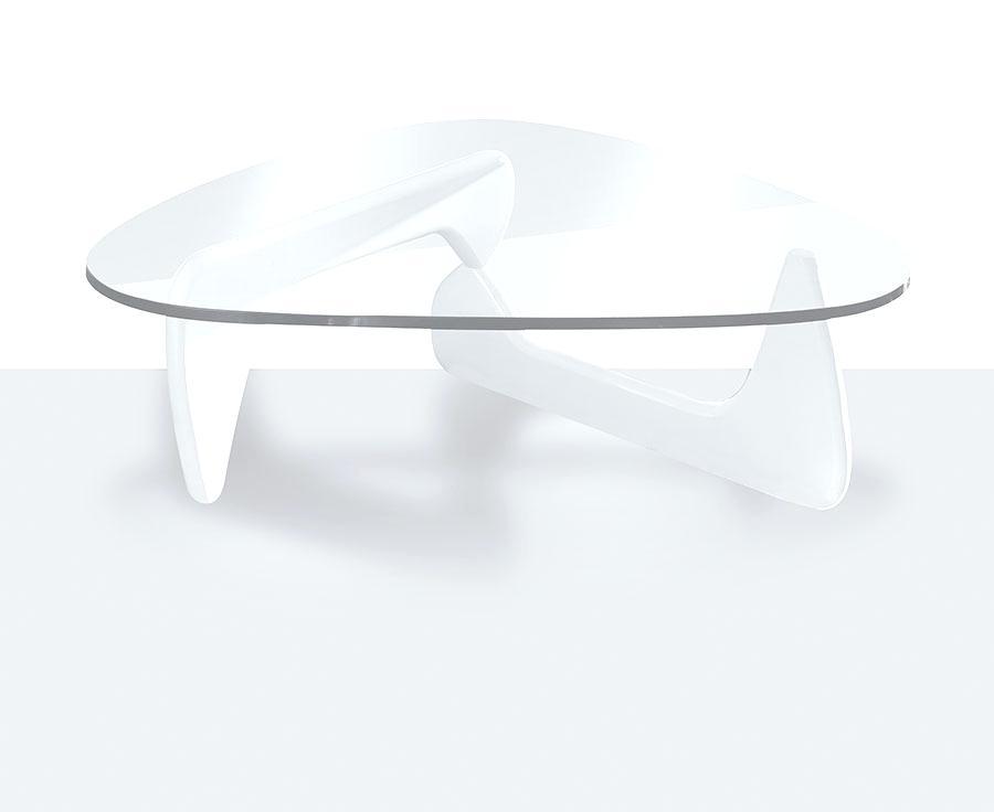 Table basse design en verre longueur 130cm hayle