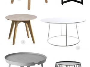 Table basse ronde fly
