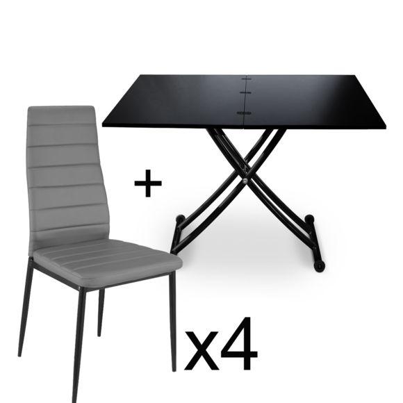 Table basse relevable carrera xl noir carbone
