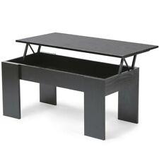 Table basse relevable zen noir