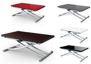 Table basse relevable transformable