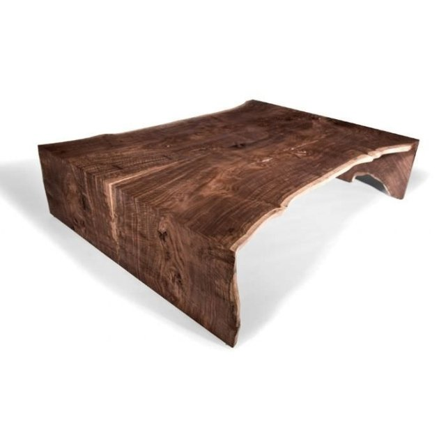 Table basse design fer bois