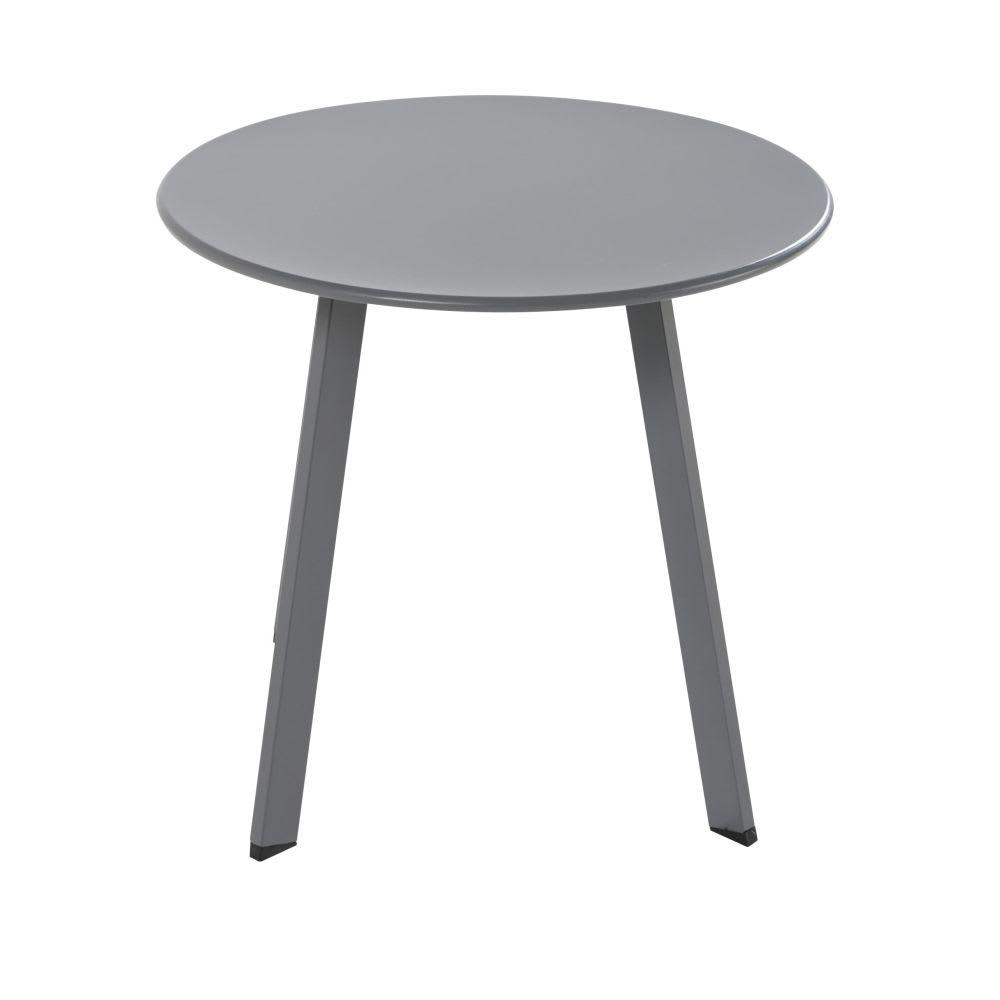 Table basse jardin ronde metal