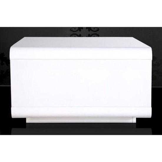 Table basse design alice blanc laqué