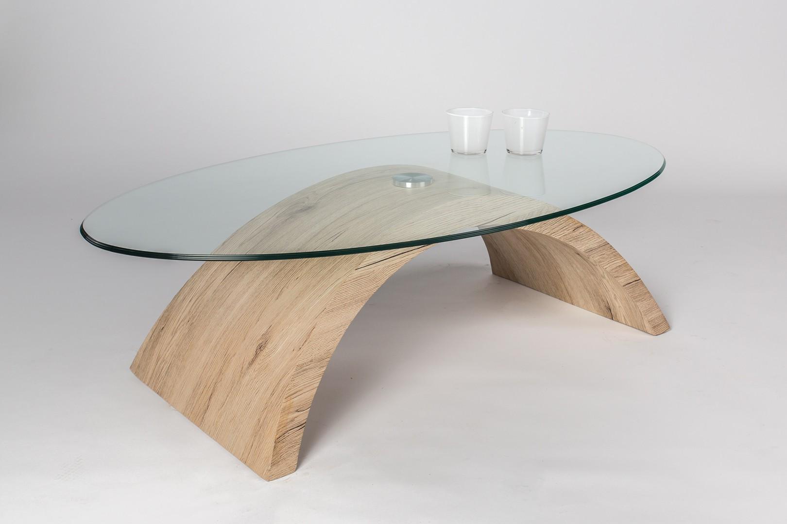 Table basse design ovale