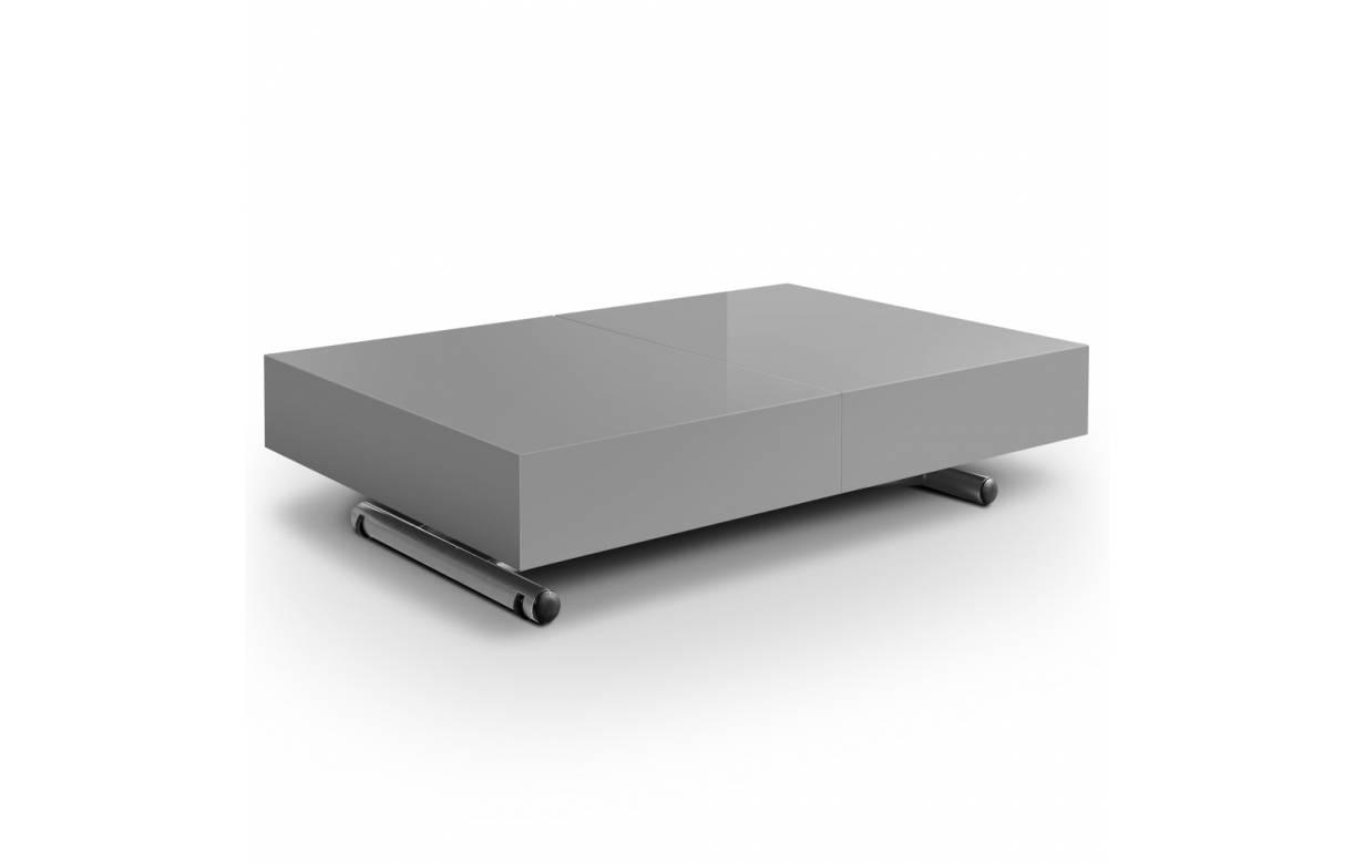 Upper table basse relevable et extensible mélamine
