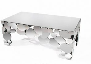 Table basse design argent