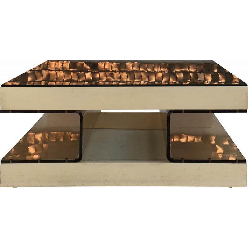 Table basse design en plexiglas