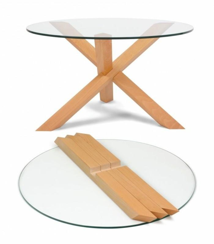 Table basse en pin fly