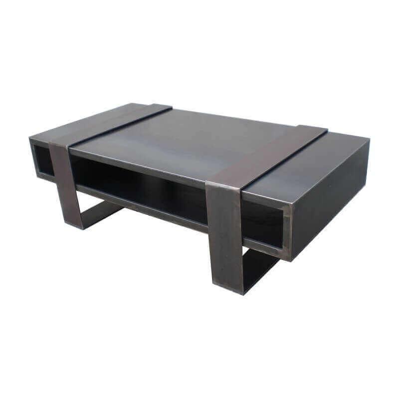 Table basse design acier