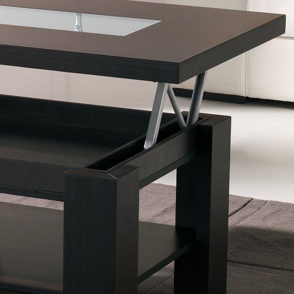 Table basse relevable wengé lift