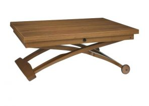 Table basse relevable extensible wengé seville
