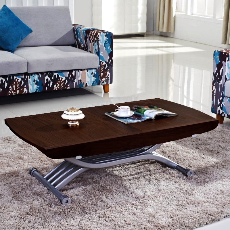 Table basse relevable wenge
