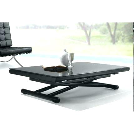 Table basse relevable 6 couverts