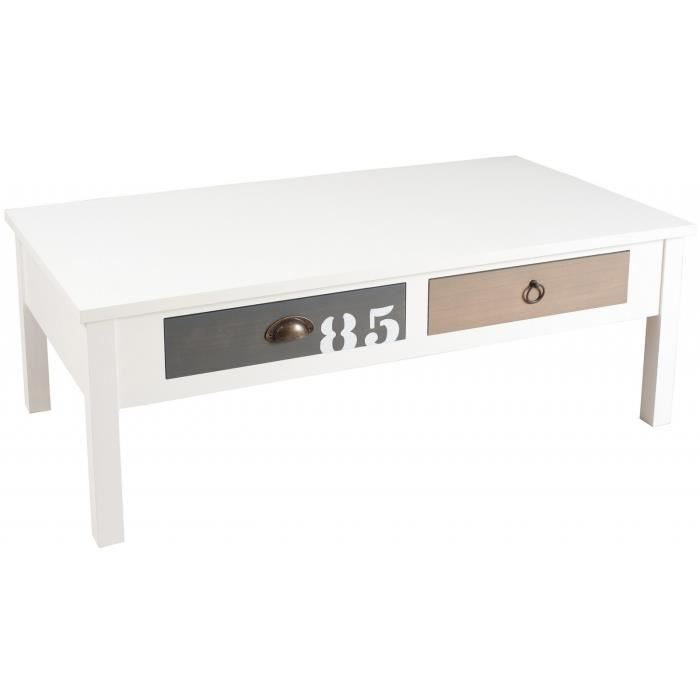 Table basse vintage coloree