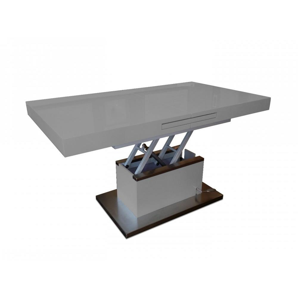 Table basse relevable taupe