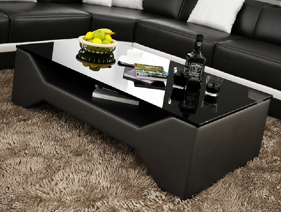 Table basse design cuir