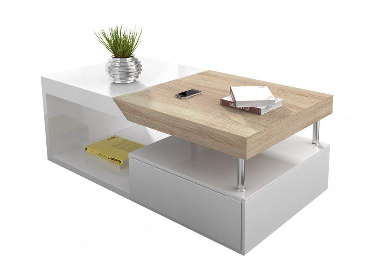 Table basse bois laqué