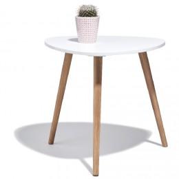 Table basse scandinave effet marbre