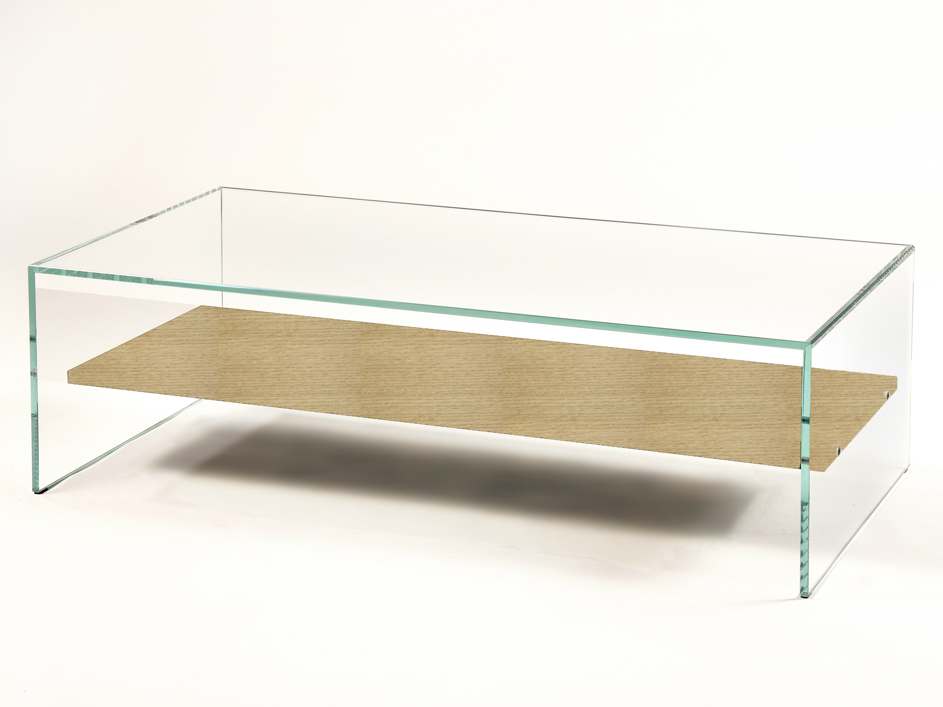 Table basse verre bois designer