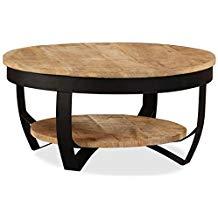 Table basse ronde bois industrielle