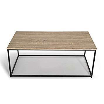 Table bois metal basse