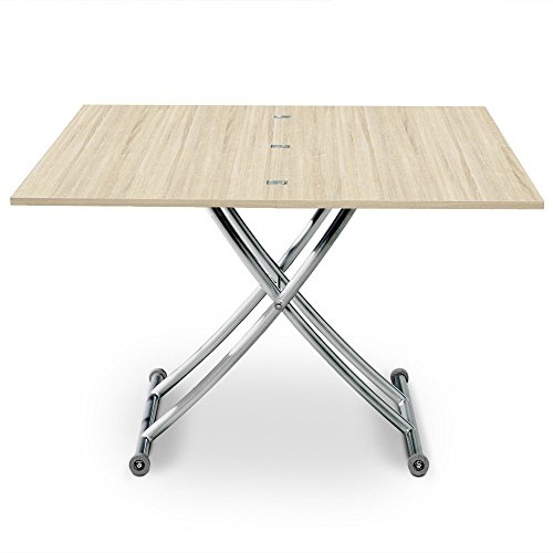 Table basse relevable bois clair