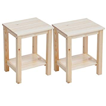 Table de chevet basse bois