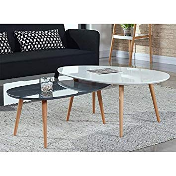 Table basse scandinave noir laqué