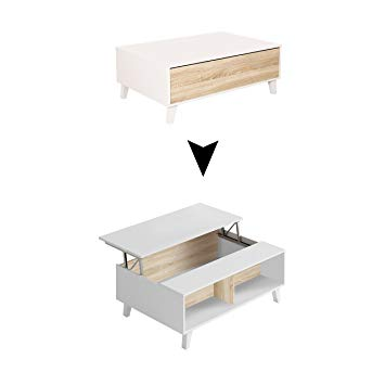 Table basse scandinave couleur chene