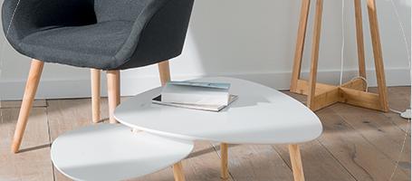 Meuble tele et table basse scandinave