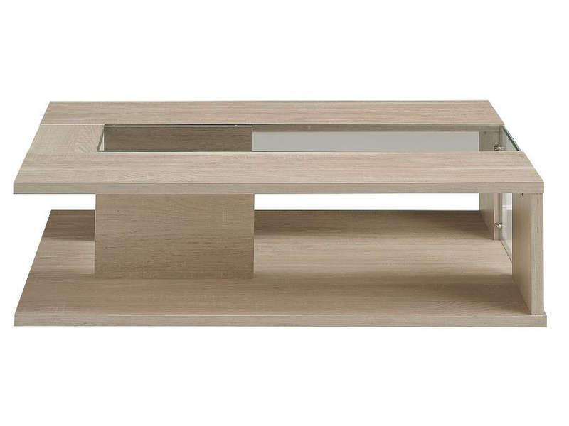 Conforama table basse bois