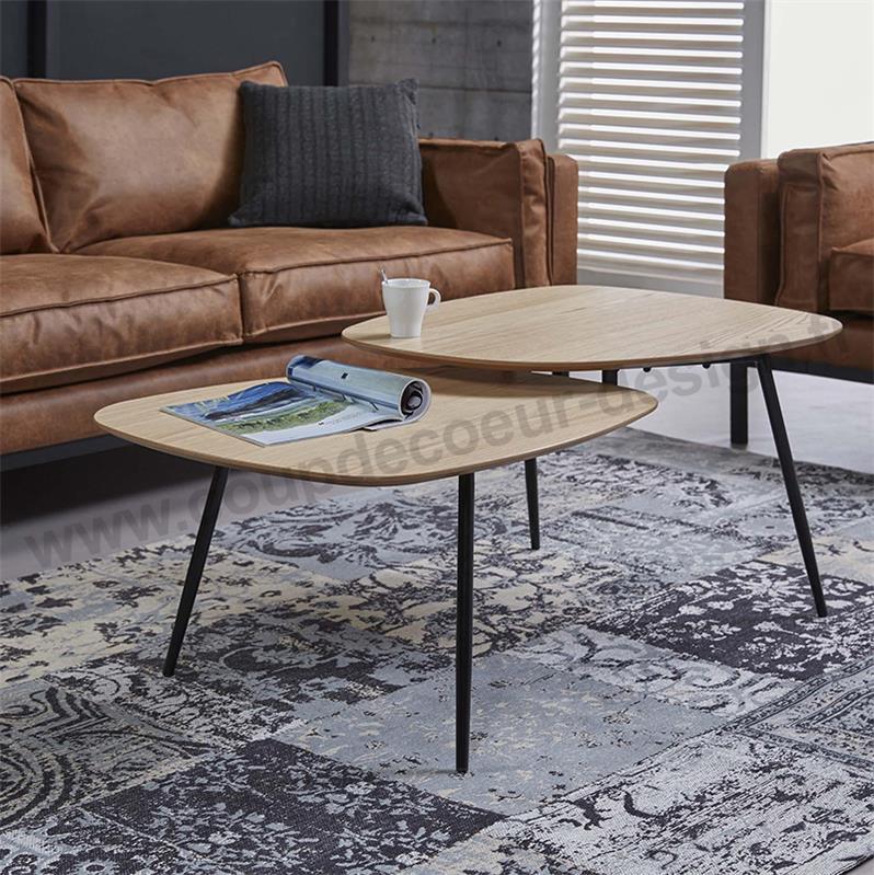 Table basse scandinave noir