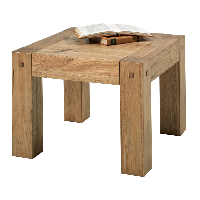 Table basse bois carré scandinave
